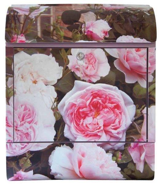 Briefkasten rosa Rosen