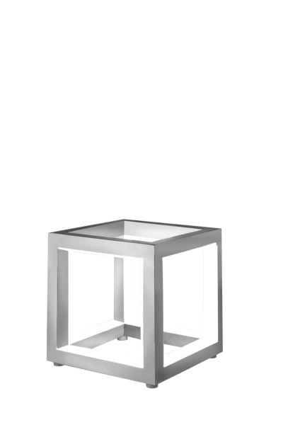 Sompex LED Tischleuchte Delux in Würfelform - verschiedene Größen - Aluminium