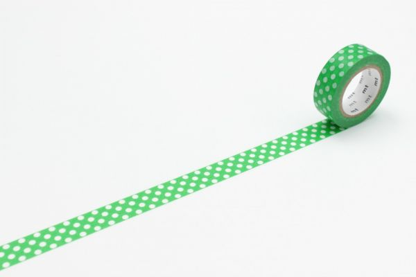 Masking-Tape single, dot green base