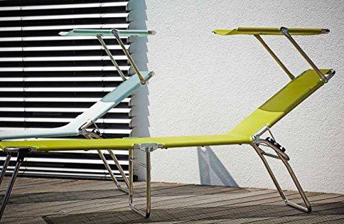 Jan Kurtz Dreibeinliege Amigo 40+ Sun, Ev, Gestell: Aluminium, Bezug: Kunststoffgewebe Pistazie