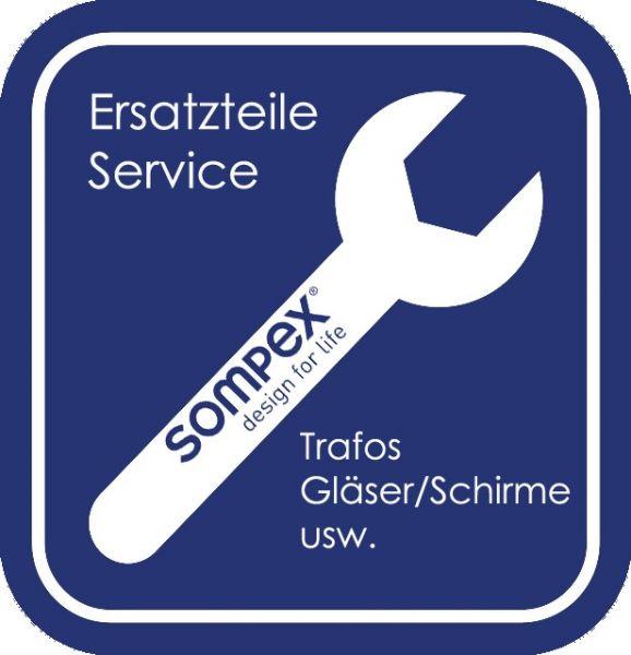 Ersatzteil Schirm/Glas zu Tischleuchte Organza T schwarz 79279