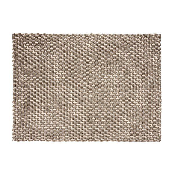 pad Fußmatte ROPE sand white | Wetterfest, für Innen- & Außen | 52 x 72cm