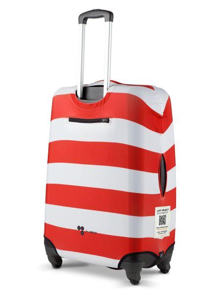 Kofferhülle | Cover mit Reißverschlusstasche | Flexbiles Elasthan | Wasserfest | Waschbar | Verschiedene Designs