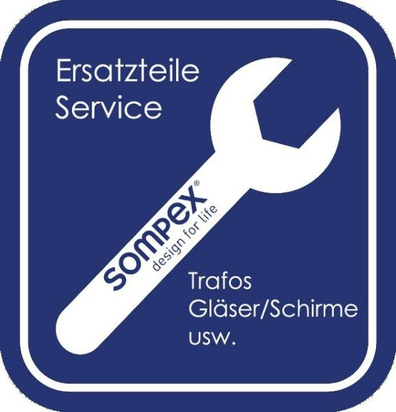 Ersatzteil Glasplatte zu Sompex Stehleuchte Mesa 50 cm 92870