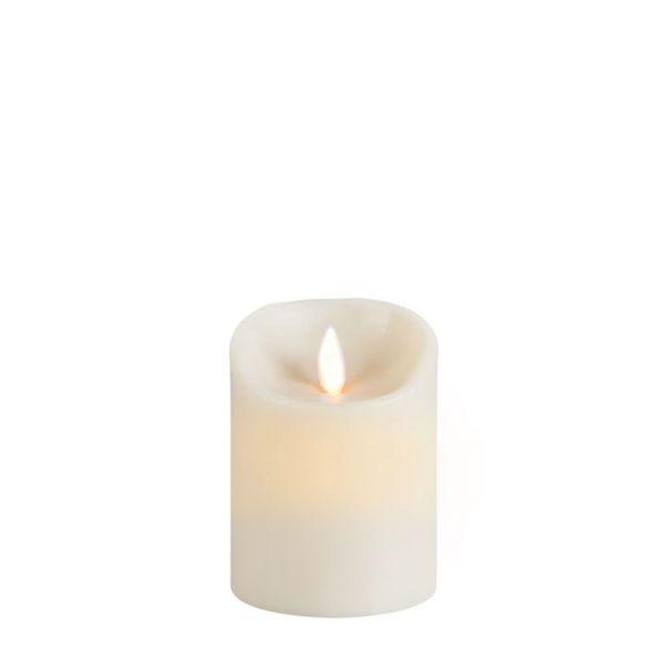 Sompex Flame Echtwachs LED Kerze, fernbedienbar, elfenbein – in verschiedenen Größen