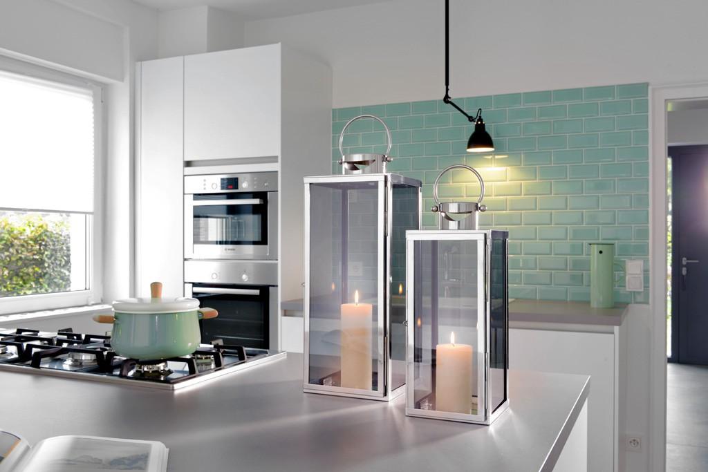 laterne aus edelstahl rostfrei wetterfest in. Black Bedroom Furniture Sets. Home Design Ideas