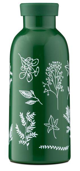 MamaWata Edelstahl Trinkflasche mit Infuser Deckel Herbs
