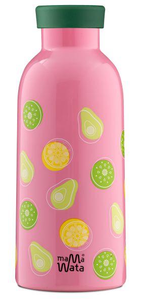 MamaWata Edelstahl Trinkflasche mit Infuser Deckel FRUITS