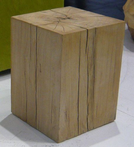 Jan Kurtz Hocker BLOCK Eiche, ca. 29 x 29 x 40 cm