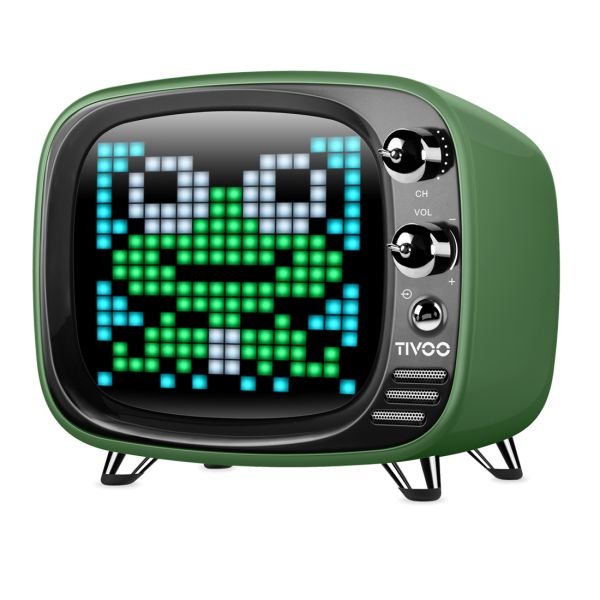 Divoom TIVOO Bluetooth 5.0 Lautsprecher mit Smart Pixel Art Display - grün