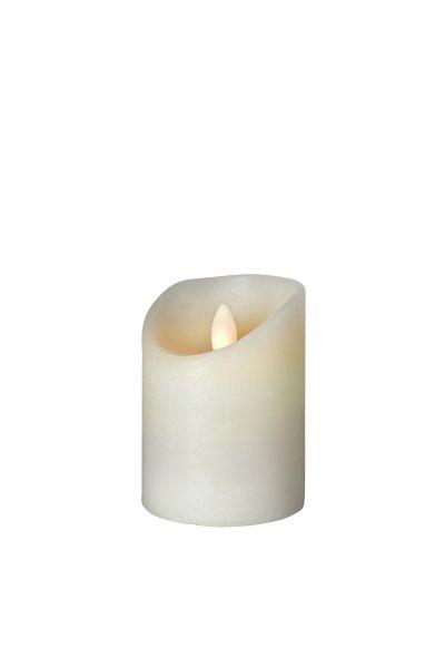 Sompex Shine LED Kerze | Fernbedienbar | Timerfunktion | Multi LED Technik | Echtwachs | Ø 7,5 cm | Elfenbein frost | - in verschiedenen Größen