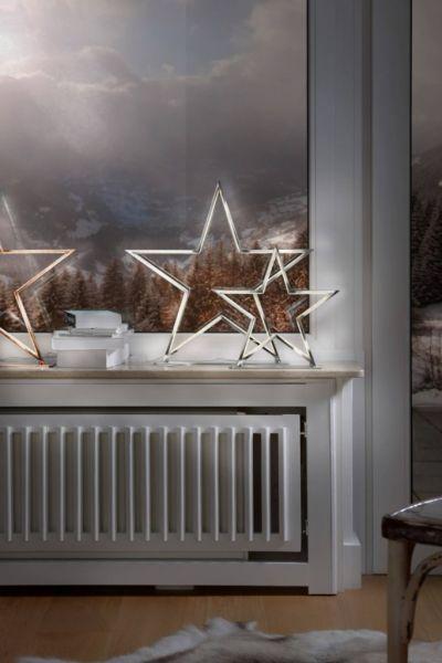 Sompex Deko- / Tischleuchte Lucy LED Weihnachtsstern, chrom - Höhe 50cm