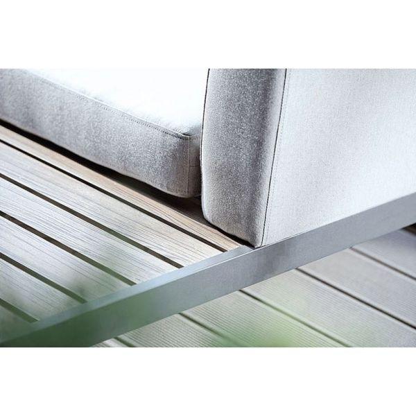 Kissen 80x80 cm zu Lounge-Hocker/Beistelltisch mit Bezug 100% Sunbrella® Acryl Dessin naturgrau