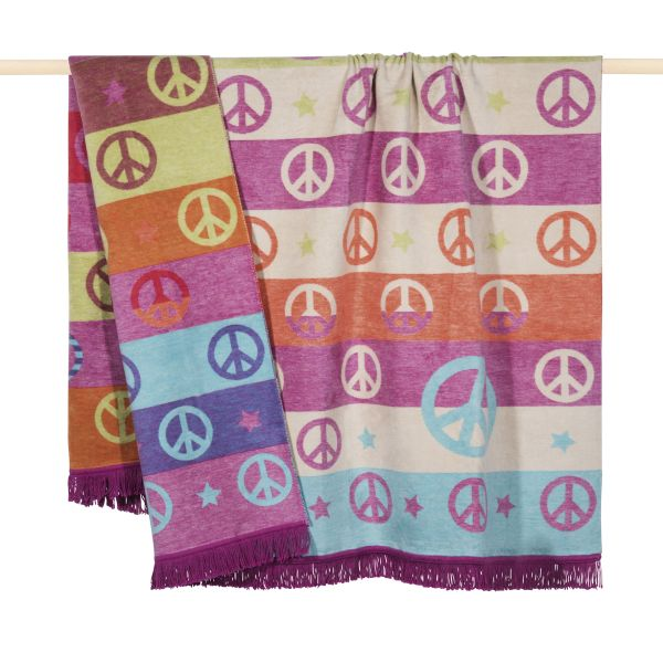 PAD Wolldecke PEACE 150 x 200 purple