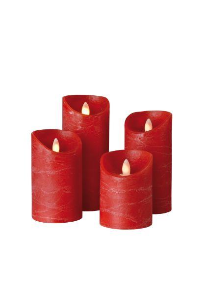 Sompex Shine LED Kerze | 4er Set | Fernbedienbar | Timerfunktion | Multi LED Technik | Echtwachs - in verschiedenen Farben