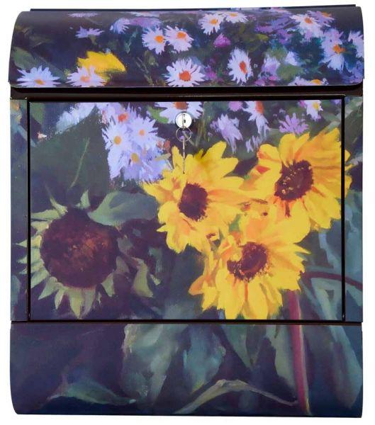 Briefkasten Sonnenblumen