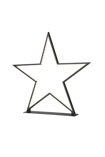 Sompex Deko- / Tischleuchte Lucy LED Weihnachtsstern, schwarz- Höhe 50cm