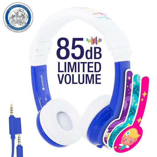 BuddyPhones Kinderkopfhörer - Inflight - Blau