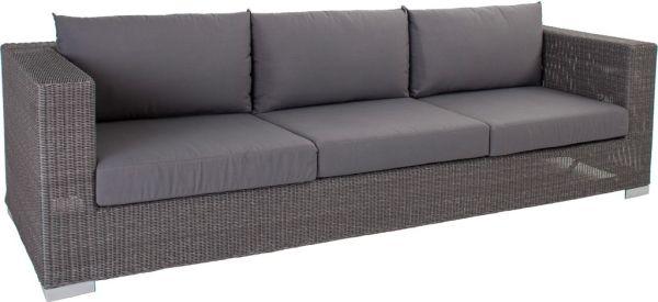 Stern Sofa 3-Sitzer Avola 87x246x65 cm Geflecht