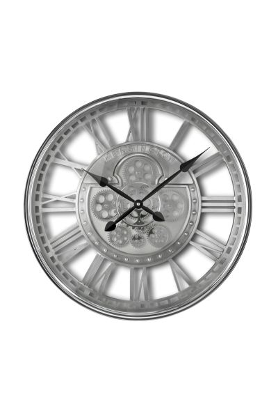 Sompex Clocks Uhr Kensington Zahnraduhr silber