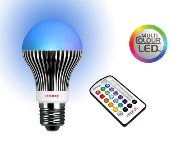 MOREE RGB LED Leuchtmittel mit Fernbedienung