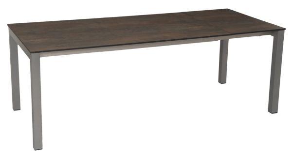 Stern Ausziehtisch 160/210x90 cm Aluminium graphit