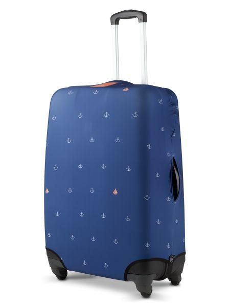 Sompex Kofferschutzhülle | Cover mit Reißverschlusstasche | Hochwertiges, flexbiles Elasthan | Wasserabweisend | Verschiedene Designs