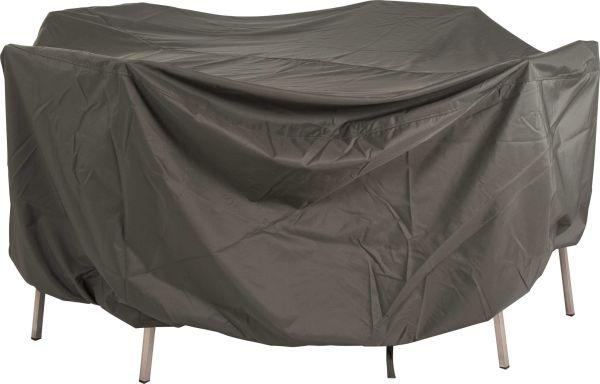Stern Schutzhülle für runde Tische Ø 110 cm | mit Bindebändern | Polyester | Grau