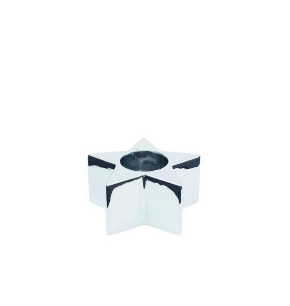 Sompex KRISMASI Keramik Stabkerzen, sternform silber