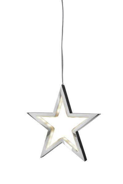 Sompex LED Dekoleuchte / Weihnachtsstern Lucy Chrom - 34cm