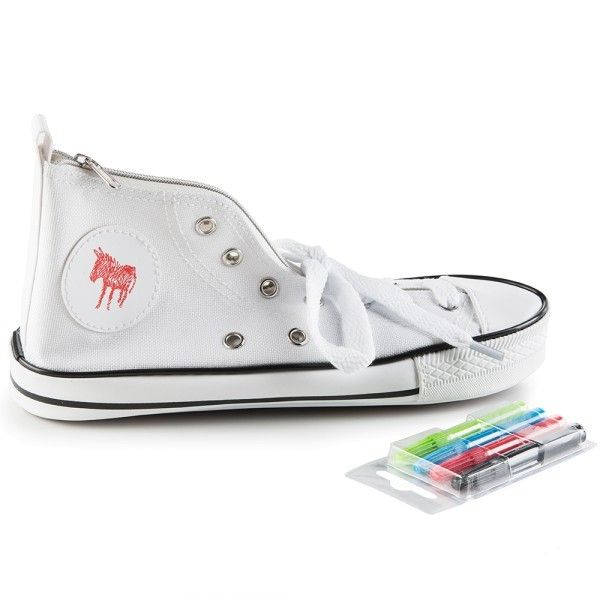 Donkey Donkey Doodle White, Sneaker Pencil Case