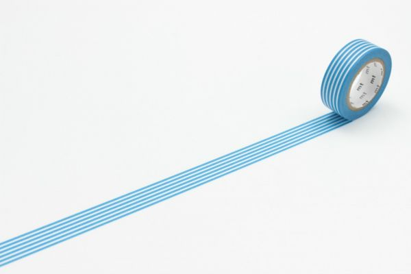Masking-Tape single, border sky blue