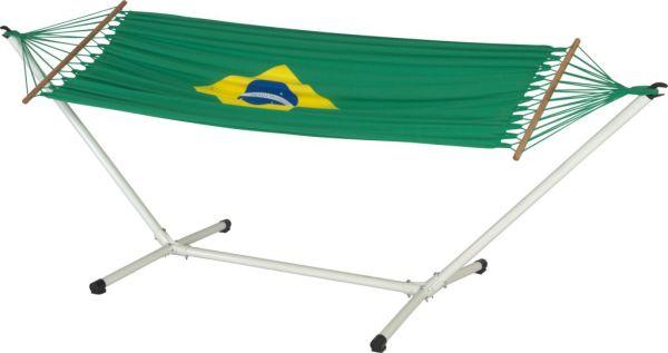 Jobek Set Brasilien mit Stabhängematte 21624 und Metallgestell Advant 120 weiß 10839