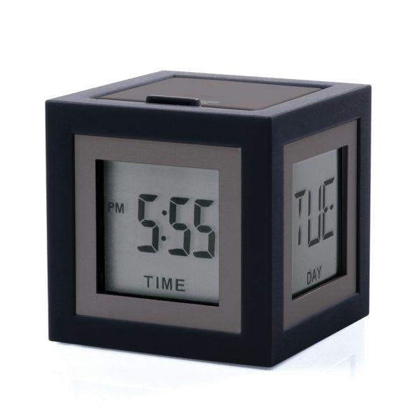 LEXON LCD Wecker schwarz Cubissimo