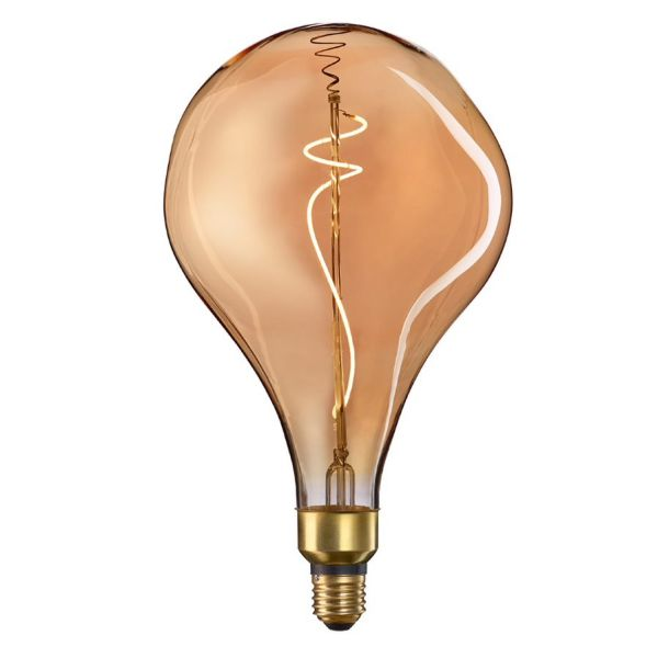 LED Illuminant Drop 5 W E27 gold dimmable