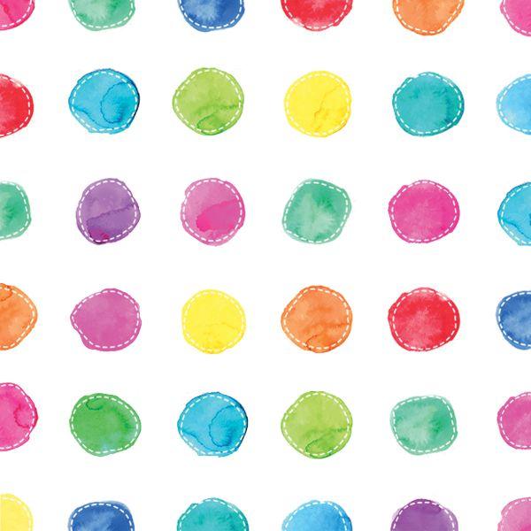 PPD - 20 bedruckte Papierservietten - Aquarell Spots - 33x33 cm FSC