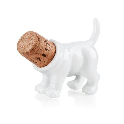 Donkey Rufus / Weinstopper aus Porzellan und Kork Form ''Hinterteil Hundes''