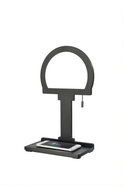 Sompex LED Tischleuchte Steve Phone   mit kabelloser Ladestation   QI Wireless Charger