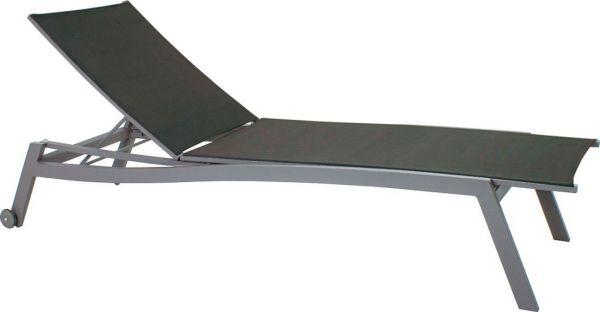 Stern Rollenliege Allround Aluminium graphit mit Bezug Textilen schwarz
