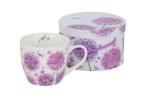 PPD Aquarell Dandelion Blumendesign Tasse/ Kaffeebecher mit passender Geschenkbox