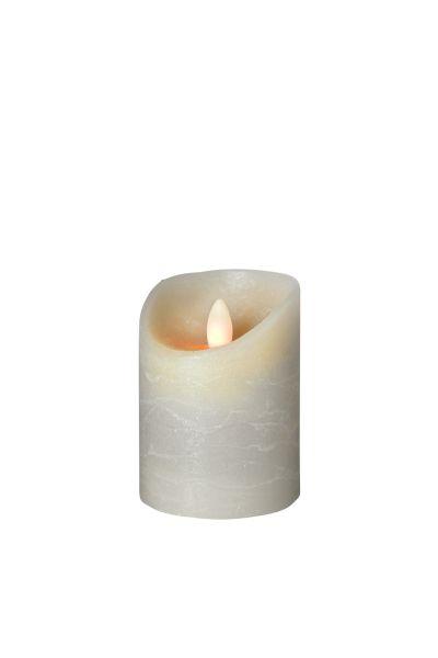 Sompex Shine LED Kerze | Multi LED Technik | Echtwachs | Ø 7,5 cm | Grau frost | - in verschiedenen Größen