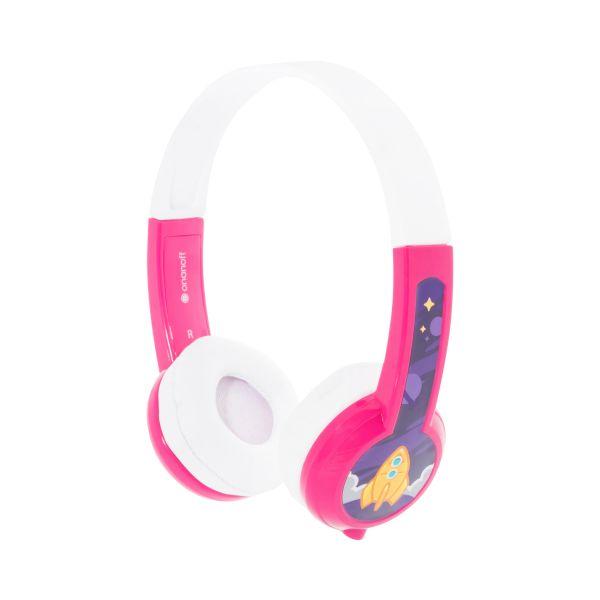 Lautstärke Reduzierende Kinderkopfhörer von Onanoff | Explore Model: Robust & Bequem | Mit eingebautem Mikrofon und Splitter | Ideal für iPad, Kindle, Computer, Tablets, Handys und mehr | Pink