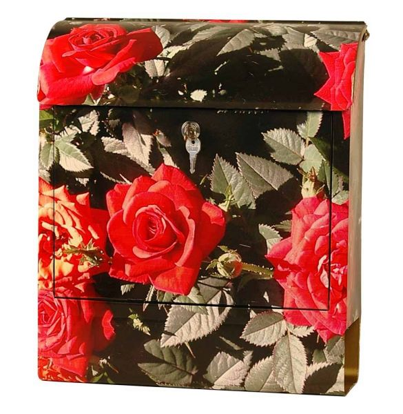 Briefkasten rote Rosen