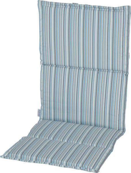 Stern Auflage ca.123x50x2 cm für Klappsessel 100% Polyester Dessin Streifen aqua