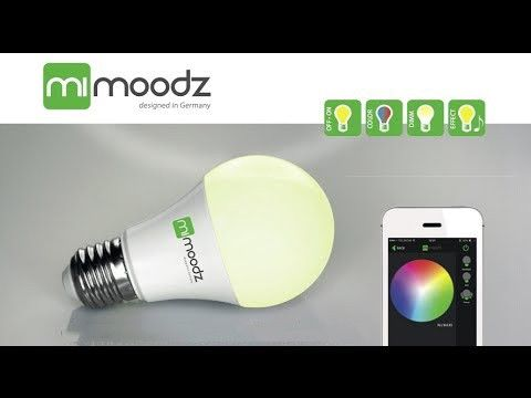 mimoodz Bluetooth Smart LED Leuchtmittel / Glühlampe für Smartphone, dimmbar, farbwechsel steuerbar mit iPhone, iPad, und iPod Touch