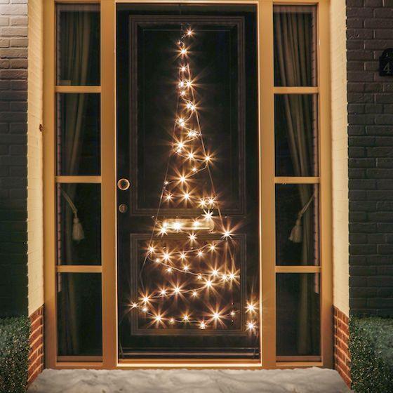 FAIRYBELL LED Weihnachtsbaum / LED Lichterkette für die Tür