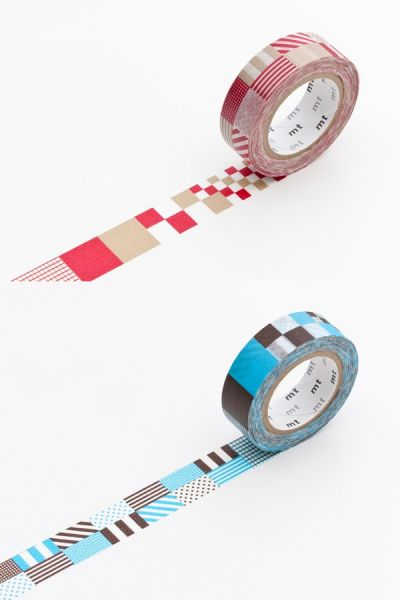 Masking-Tape double deco, mix red x blue