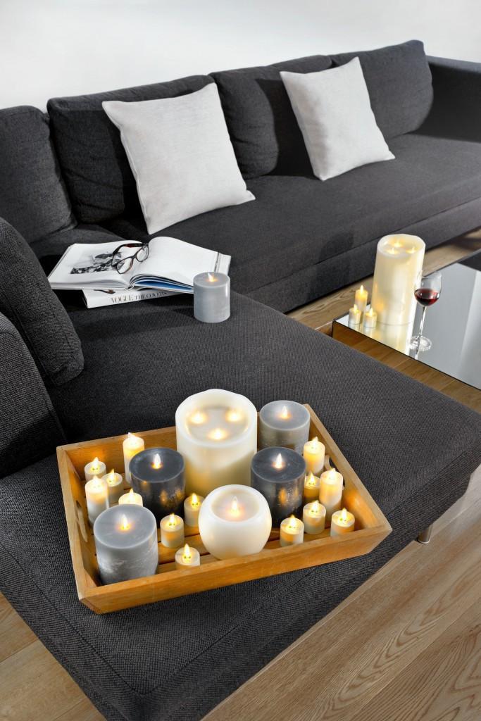 2er set sompex flame led xl teelichter xl mit. Black Bedroom Furniture Sets. Home Design Ideas