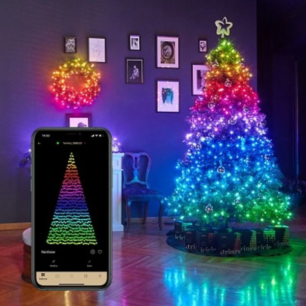 Twinkly Strings 250 LED Lichterkette | Warmweiss & Multicolor | Outdoor 20m | Smartphone Steuerbar