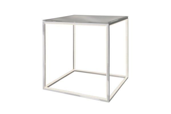 Sompex LED Tisch Delux mit Glasplatte - quadratisch
